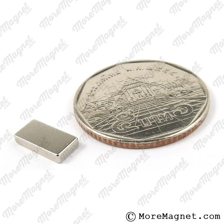 แม่เหล็กแรงสูง นีโอไดเมียม NdFeB ขนาด 10 มม. x 5 มม. x 1.75 มม.
